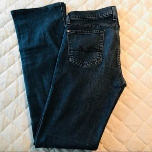 7 For All Mankind Flare Dark Wash Jeans sz 28